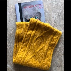 NWT Old Navy Cable Knit Infinity Scarf Mustard